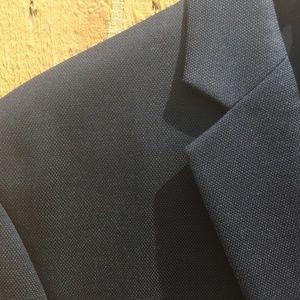 Calvin Klein Navy Pindot Wool Suit - 42S 34/30